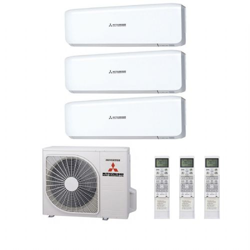 Mitsubishi Heavy Industries Air Conditioning SCM80ZM-S Multi Inverter Heat Pump 1 x SRK35ZS-S, 2 x SRK25ZS-S Wall Mounted A+ 240V~50Hz